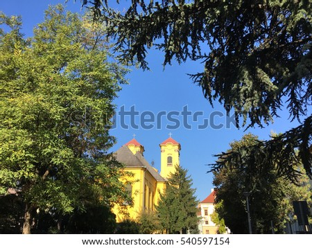 Ferences templom church in Eger Hungary