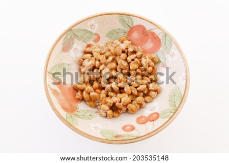 Fermented soybeans - stock photo
