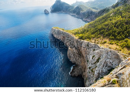 Fermentor. The coast of Mallorca, Balearic Islands - stock photo