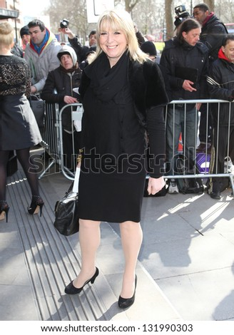 Fern Britton arriving for the 2013 TRIC Awards, at The Grosvenor House Hotel, London. 12/03/2013 Picture by: Alexandra Glen