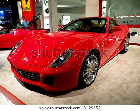 Ferrari displayed at the NY International Auto Show 2007