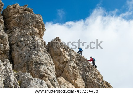 ferrata cmbing in the dolomites - The Dolomites - UNESCO World Heritage