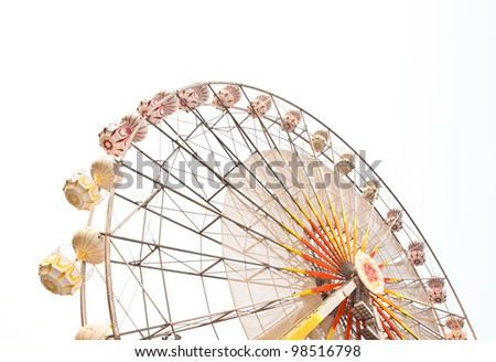 ferris wheel against on the sky - stock photo
