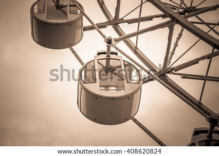 ferris wheel for Scenic ride in amusement park. - stock photo