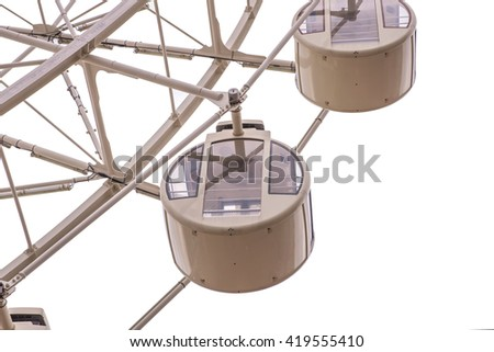 ferris wheel for Scenic ride in amusement park isolate on white background.