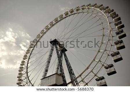 ferris wheel goes round - stock photo
