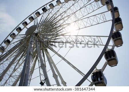 Ferris wheel in Brighton, UK - stock photo