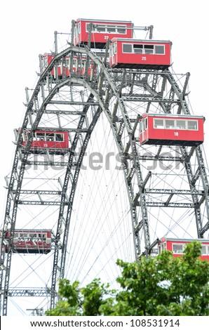 Ferris Wheel in Vienna Austria - Prater park - stock photo