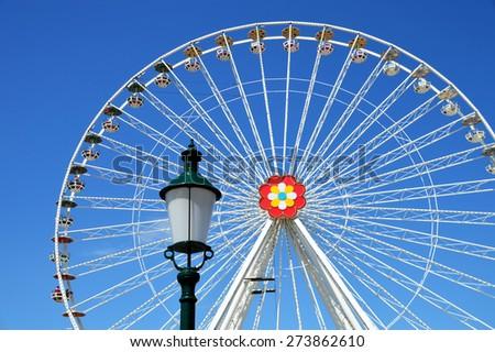 Ferris Wheel with Lantern - stock photo