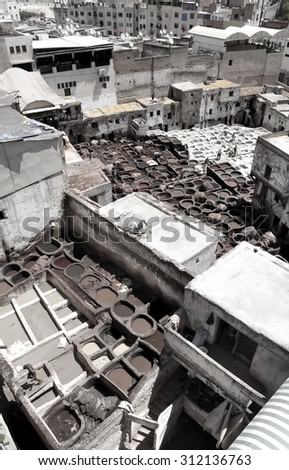 Fes, Old City in Morocco