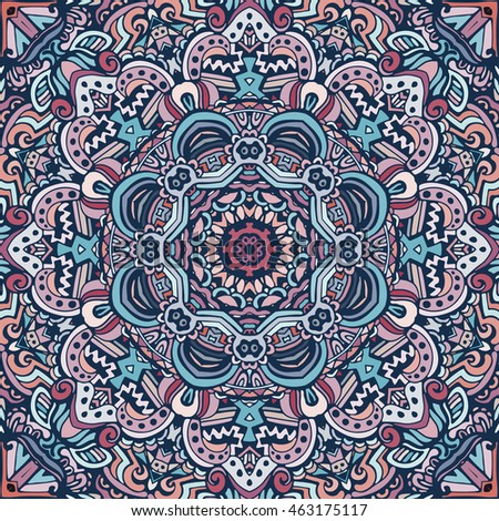 festival art seamless pattern. Ethnic geometric print. Colorful repeating background texture.