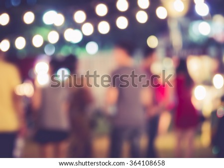 Festival Event Party with People Blurred Background - stock photo