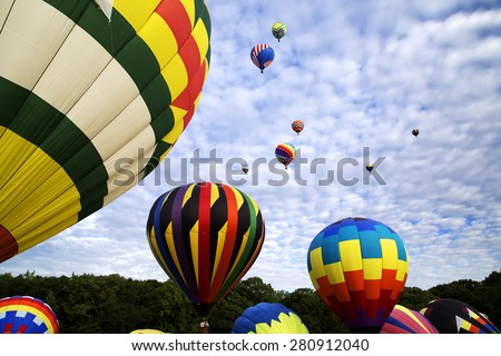 Festival of hot air balloons - stock photo