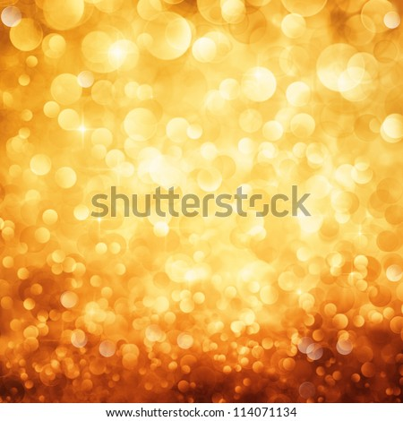 Festive background. Christmas and New Year feast bokeh background with copyspace