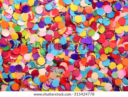festive background of confetti - stock photo