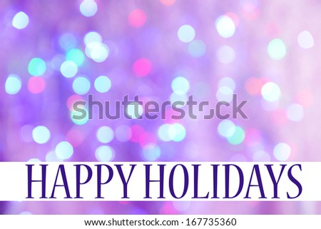 Festive background of lights - stock photo