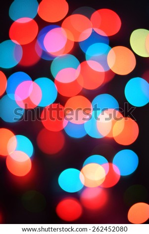 Festive background with defocused lights, Bokeh - stock photo