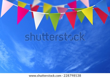 Festive background with flags - stock photo