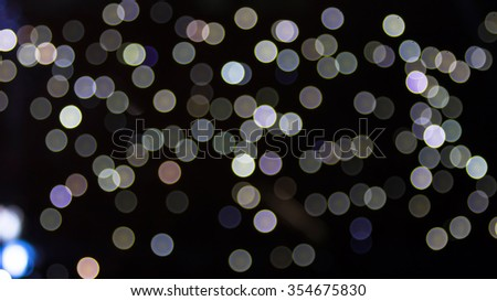 Festive background with natural bokeh - stock photo