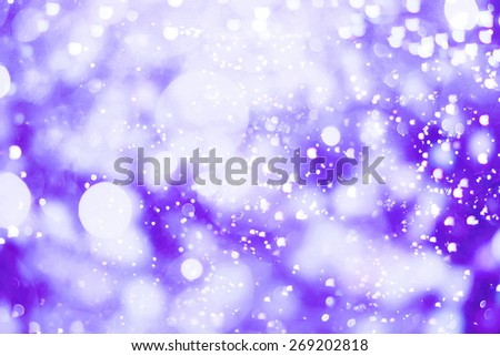 Festive Background With Natural Bokeh And Bright Golden Lights. Vintage Magic Background With Color - stock photo