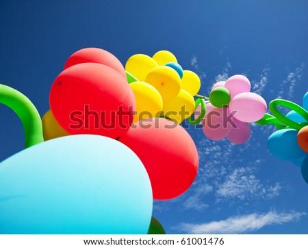 festive balloons - stock photo