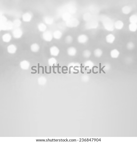 Festive  blur background. Abstract twinkled bright background with bokeh defocused silver  lights - stock photo