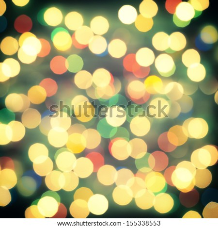 Festive Christmas background with bokeh lights, for design