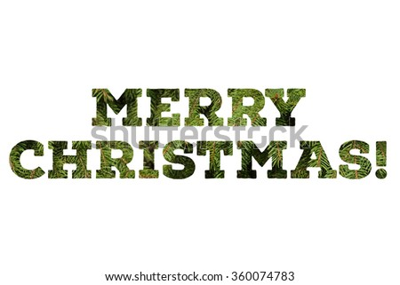 Festive colorful Merry Christmas congratulation on white background