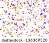 Festive confetti background - stock vector