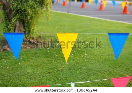 Festive flags - stock photo