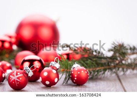 festive glitter christmas decoration bauble seasonal - stock photo