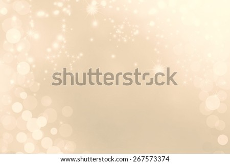 Festive gold bokeh light Christmas background - stock photo