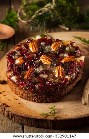 Festive Holiday Fruit Cake with Nuts and Berries