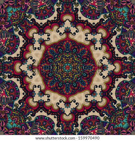 Festive kaleidoscope design - stock photo
