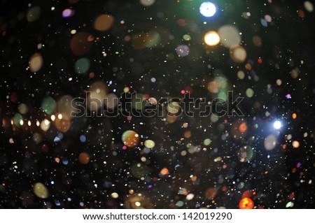 Festive lights . - stock photo
