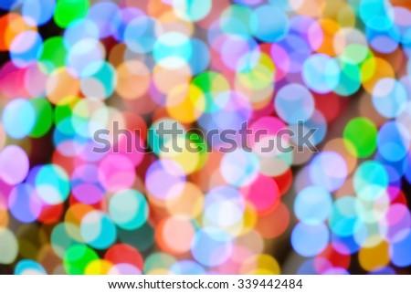 Festive lights background - stock photo