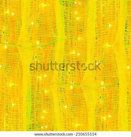 Festive lights interior background - stock photo