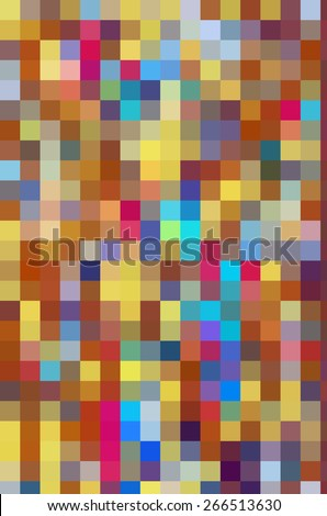 Festive parti-colored mosaic abstract of squares in a variety of solid colors for carnival or summer themes - stock photo