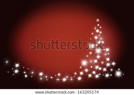 Festive red christmas card background with space for text. - stock photo