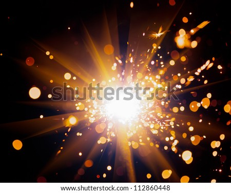 festive sparkler - stock photo