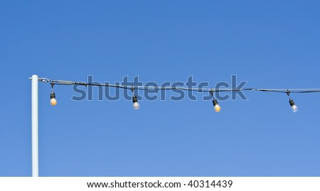 Festive String of Lights - stock photo