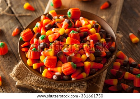 Festive Sugary Halloween Candy Ready to Eat - stock photo