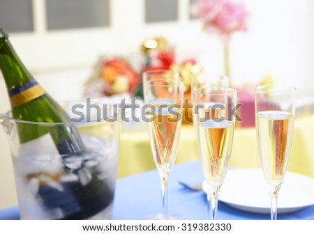 Festive table with christmas  - stock photo