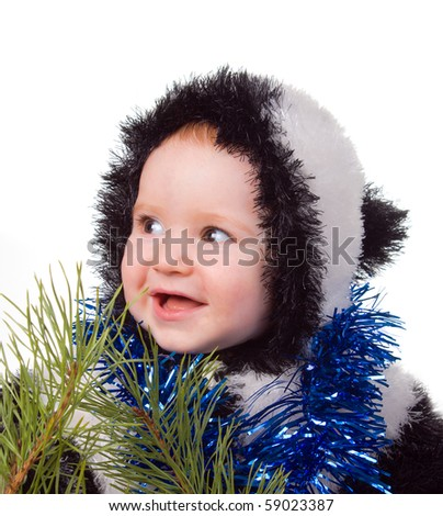 festive tot,joy of the tot,small child,Before cristmas
