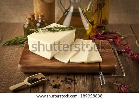 feta cheese  concept photo - stock photo