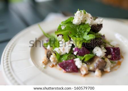 Feta greek cheese vegetable salad - stock photo