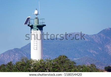 Fethiye light station on the breakwater   - stock photo
