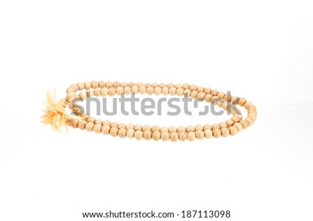 fetish paternoster isolated on white with clipping path - stock photo