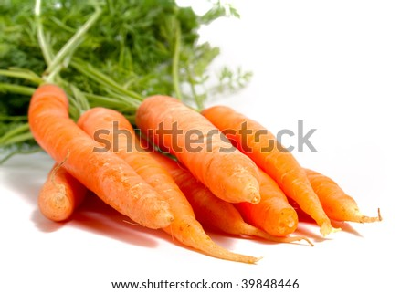 few carrots isolated on white
