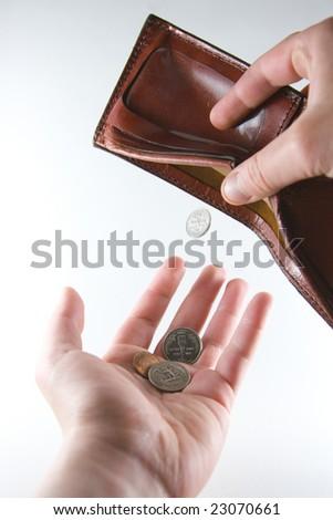Few pennies left - stock photo